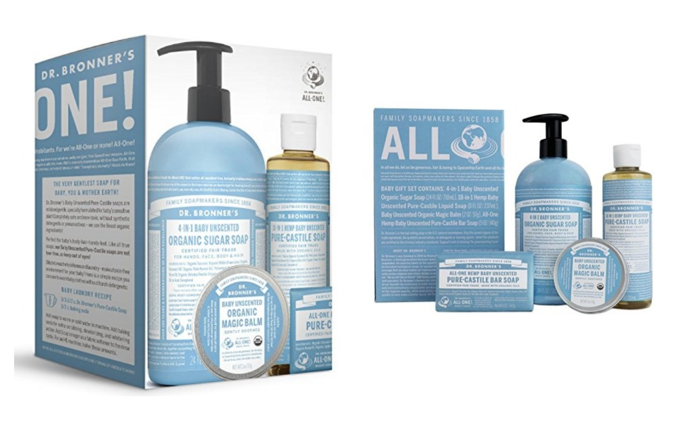 Dr. Bronner's gift sets are perfict for Baby's first