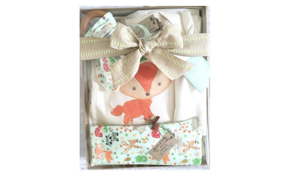 This etsy gift set will be soft and luxurious for baby