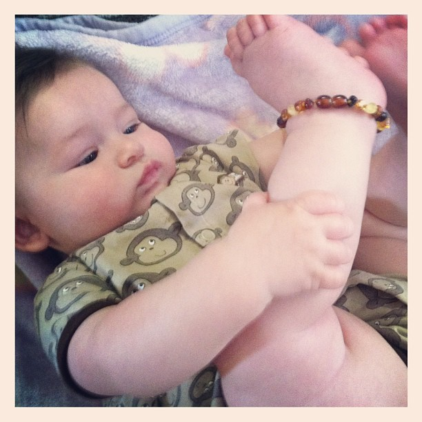 Many moms swear by amber teething necklaces to help soothe pain naturally.