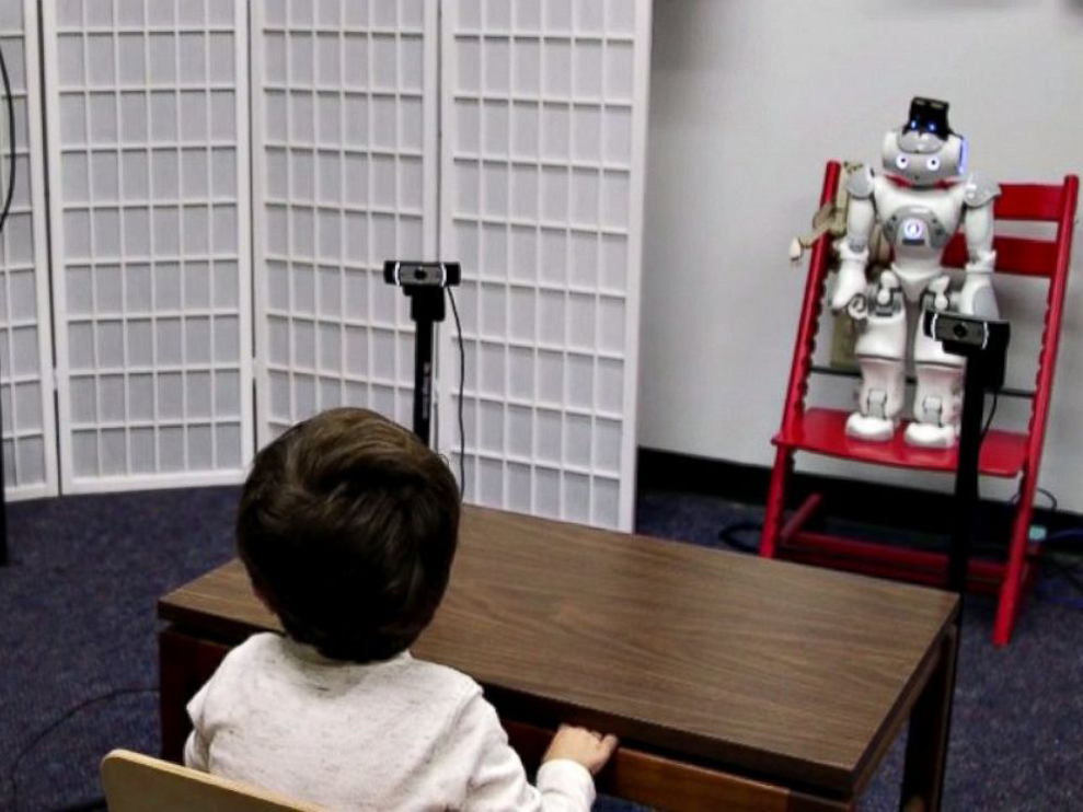 New robotics technology aims to diagnose and treat autism sooner.