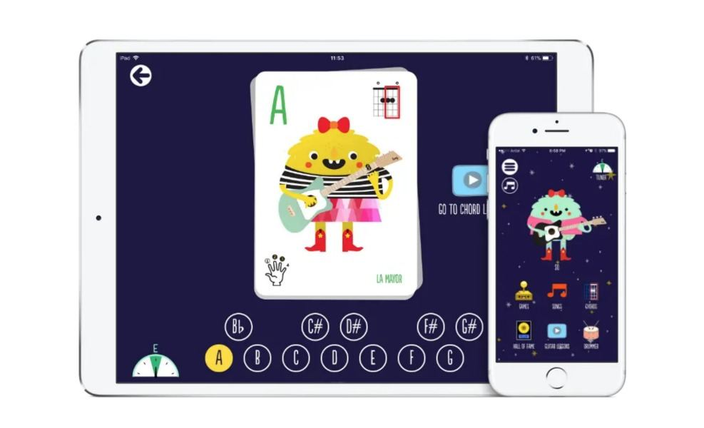 The Loog App is a fun way to learn to play musical instruments