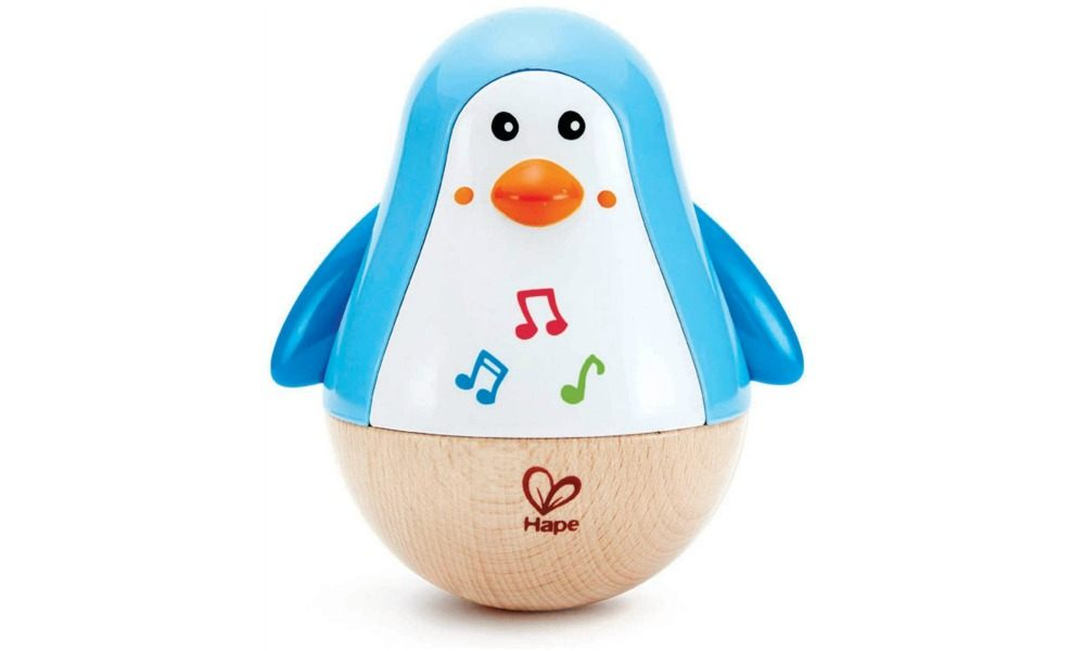 The HAPE penguin wobbler is a great baby toy