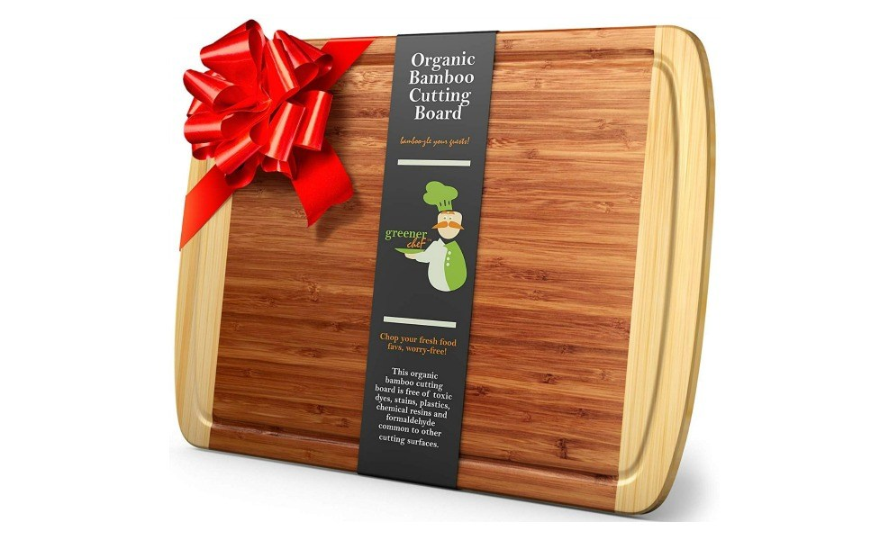 An organic bamboo board is a great cooking tool for kids