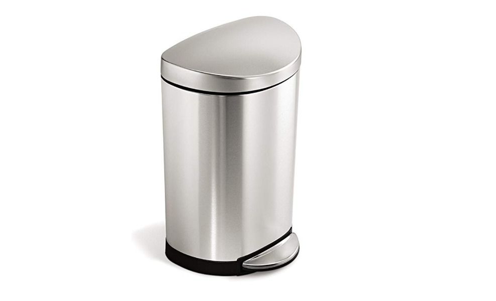 The simplehuman trash can is a great diaper pail