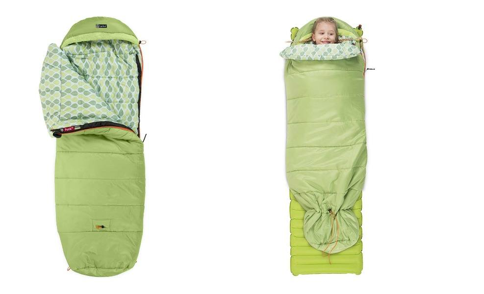 NEMO's Punk sleeping bag has a great cinch sack for growth