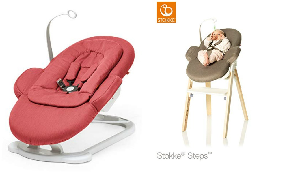 Stokke's bouncer is a popular bouncer for moms
