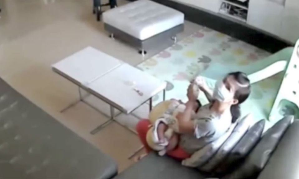 Nanny Caught On Camera Drinking Mom's Breast Milk