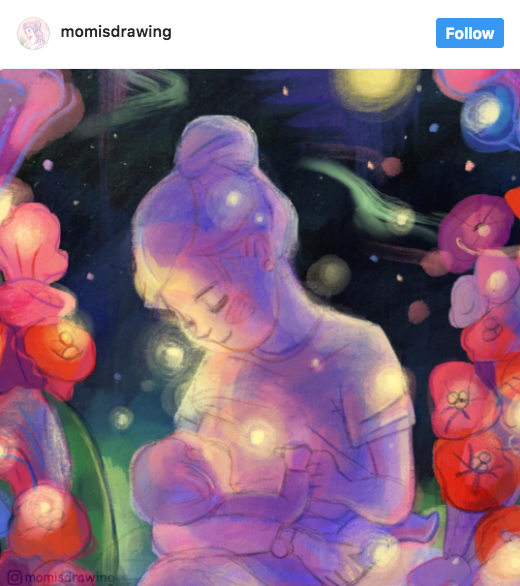 These dreamy drawings will remind you how powerful breastfeeding truly is.