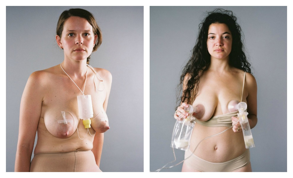 A photographer shows the technological necessities of a 'natural' process like nursing