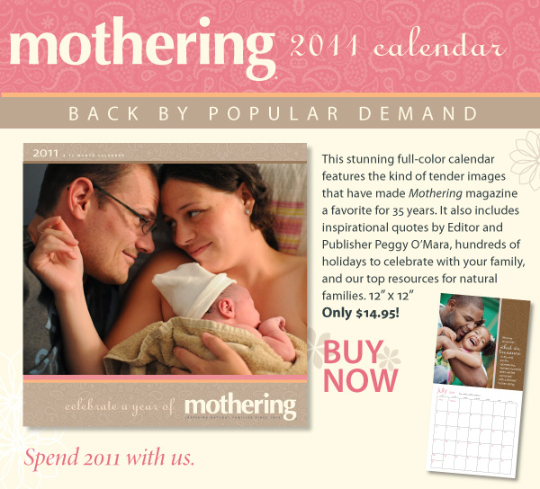 The Winner of the Mothering Calendar is…