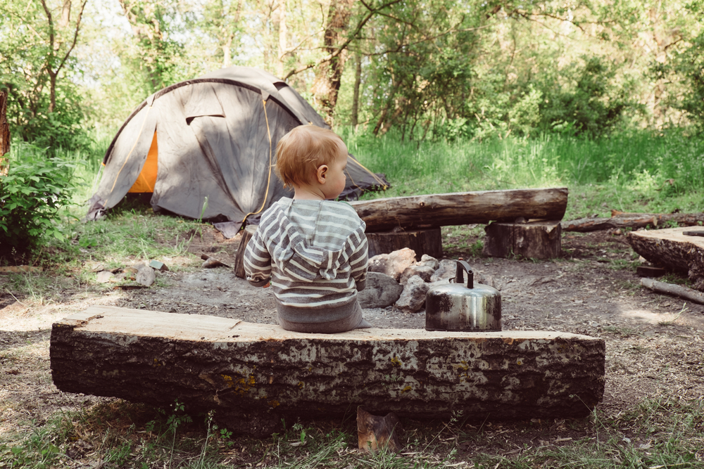 Here are some tips I learned taking my baby camping.