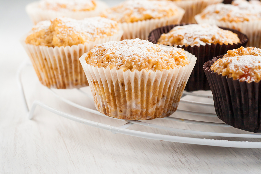 These Carrot Cake Muffins are a great hide-the-veggies dish, plus this recipe includes four different types of produce and spelt flour.