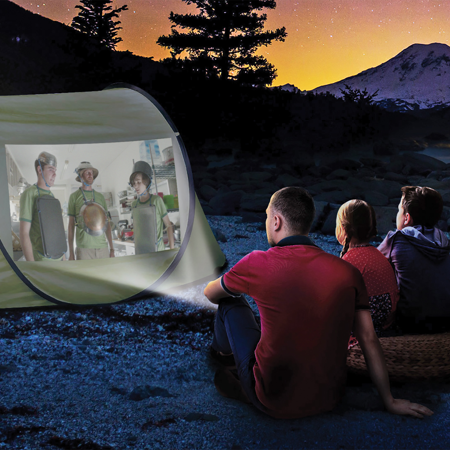 TheCINEMOOD Projector lets anywhere become a virtual theater!