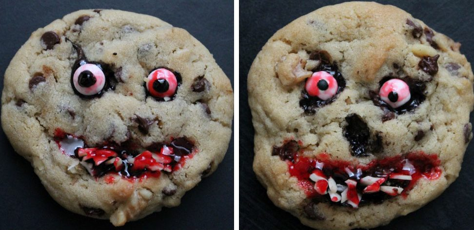 There's no better way to celebrate the month of Halloween than with these creepy cookies.