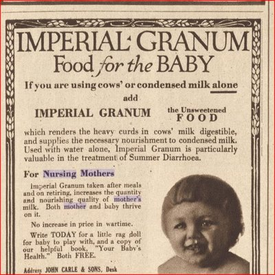 Nursing Mother Supplement, 1918 and 1919