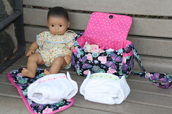 Image of: Set of 2 Cotton Flannel Doll Diapers