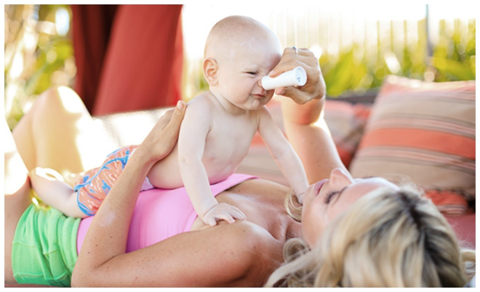 Earth Mama organics sunscreen uses organic mineral ingredients to keep your family and the oceans safe.