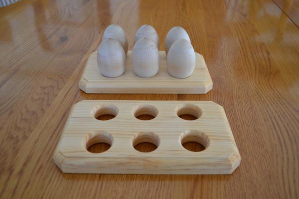 Image of: Wooden Egg Holder Tray