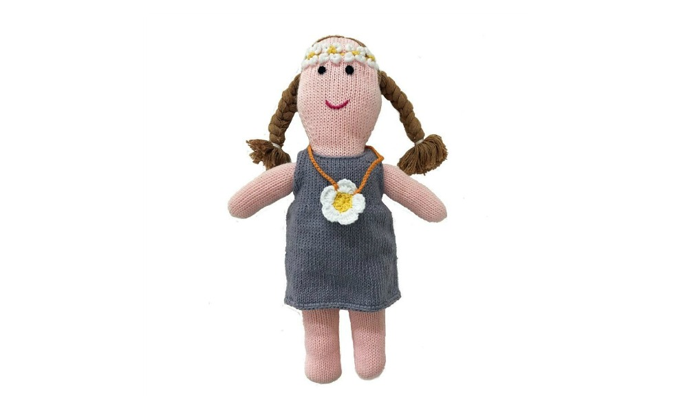 A flower child doll that is organic and handmade is a perfect baby gift