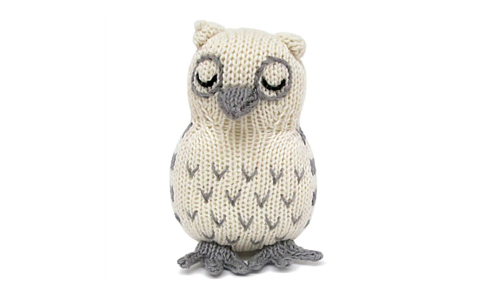 This organic owl rattle is conscientiously made.