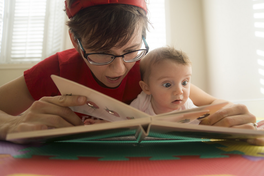 How To Read To a Baby Who Won't Sit Still