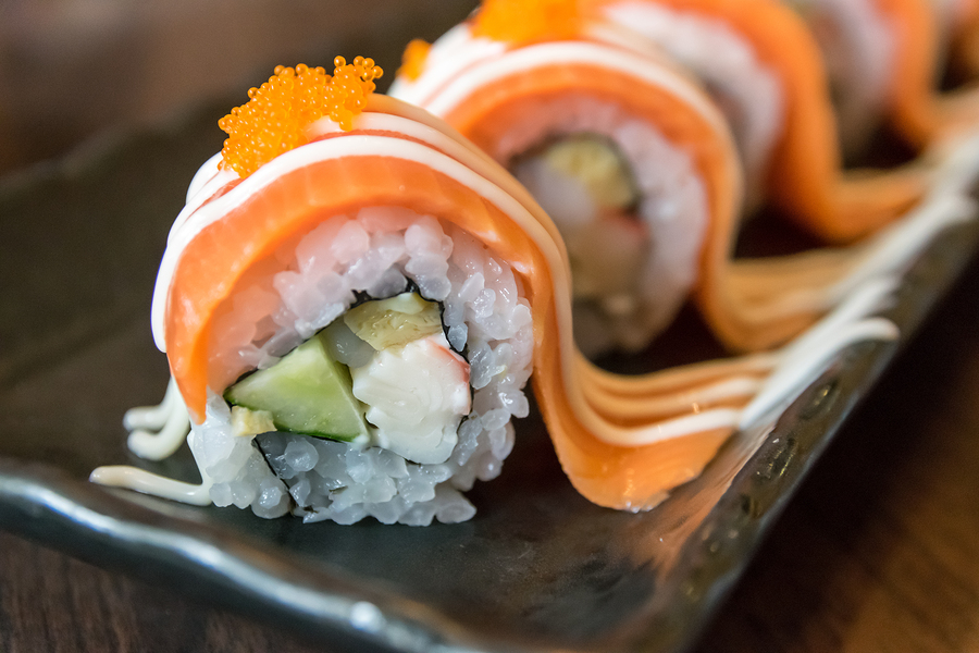 Combine a little French pizazz to the traditional Japanese roll.