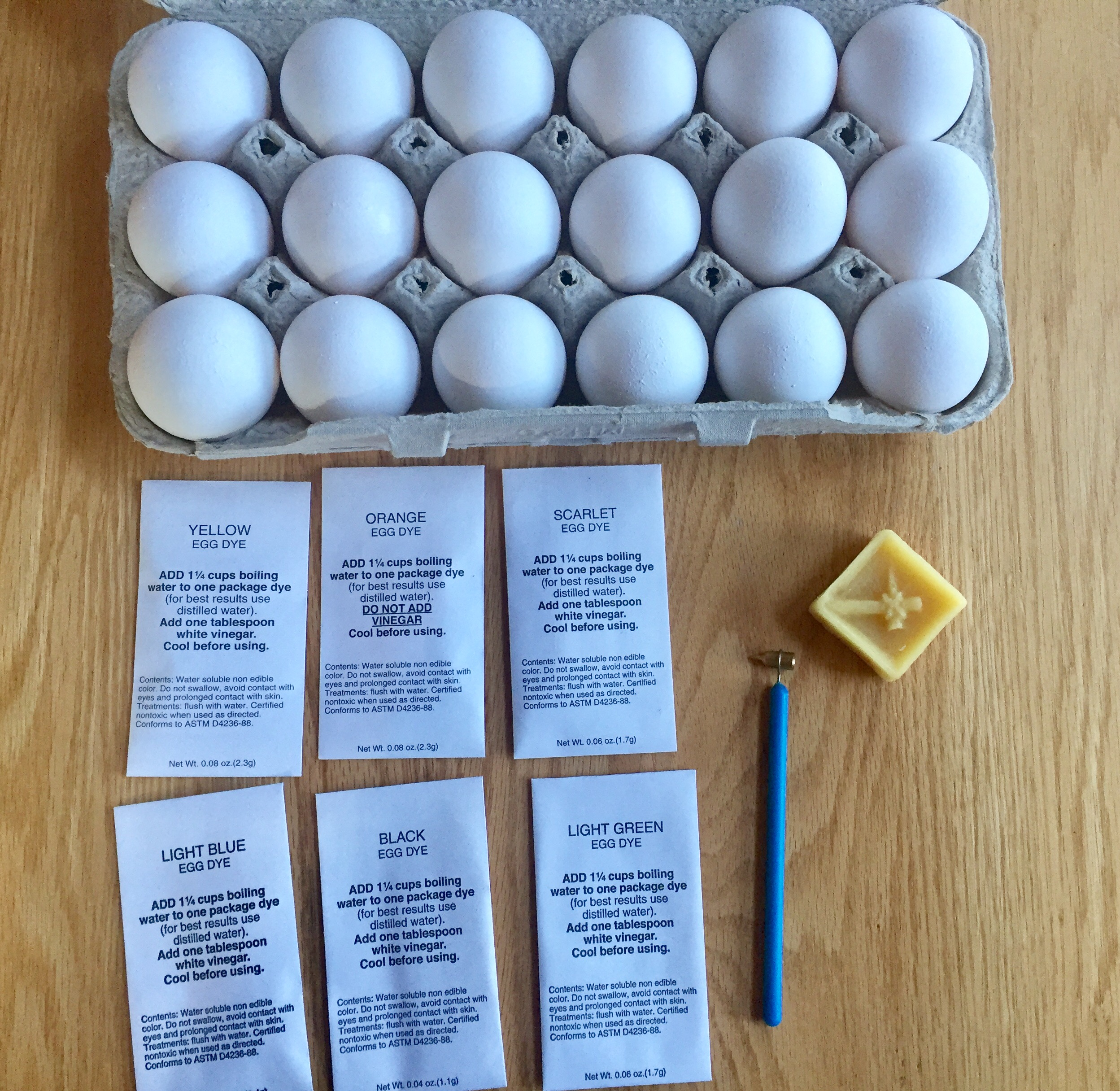 Egg Dyeing Supplies