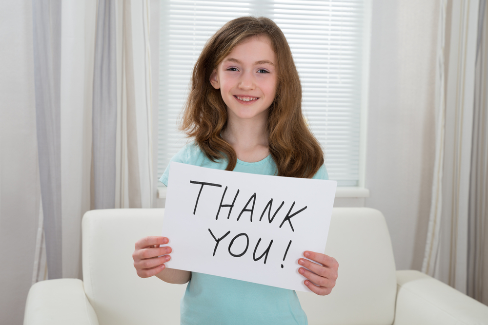 Authentic expressions of gratitude from our children can contribute to their overall health and happiness.
