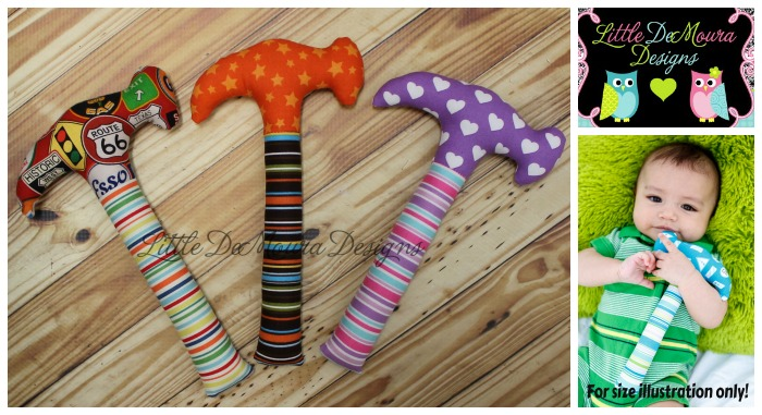 Image of: Plush Hammer Rattles