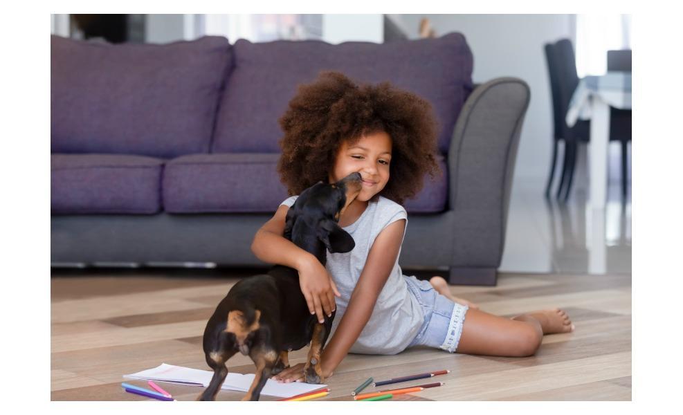 Having a dog helps kids be kinder