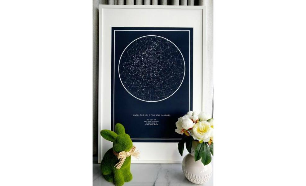The Night Sky Map is a beautiful celebration piece