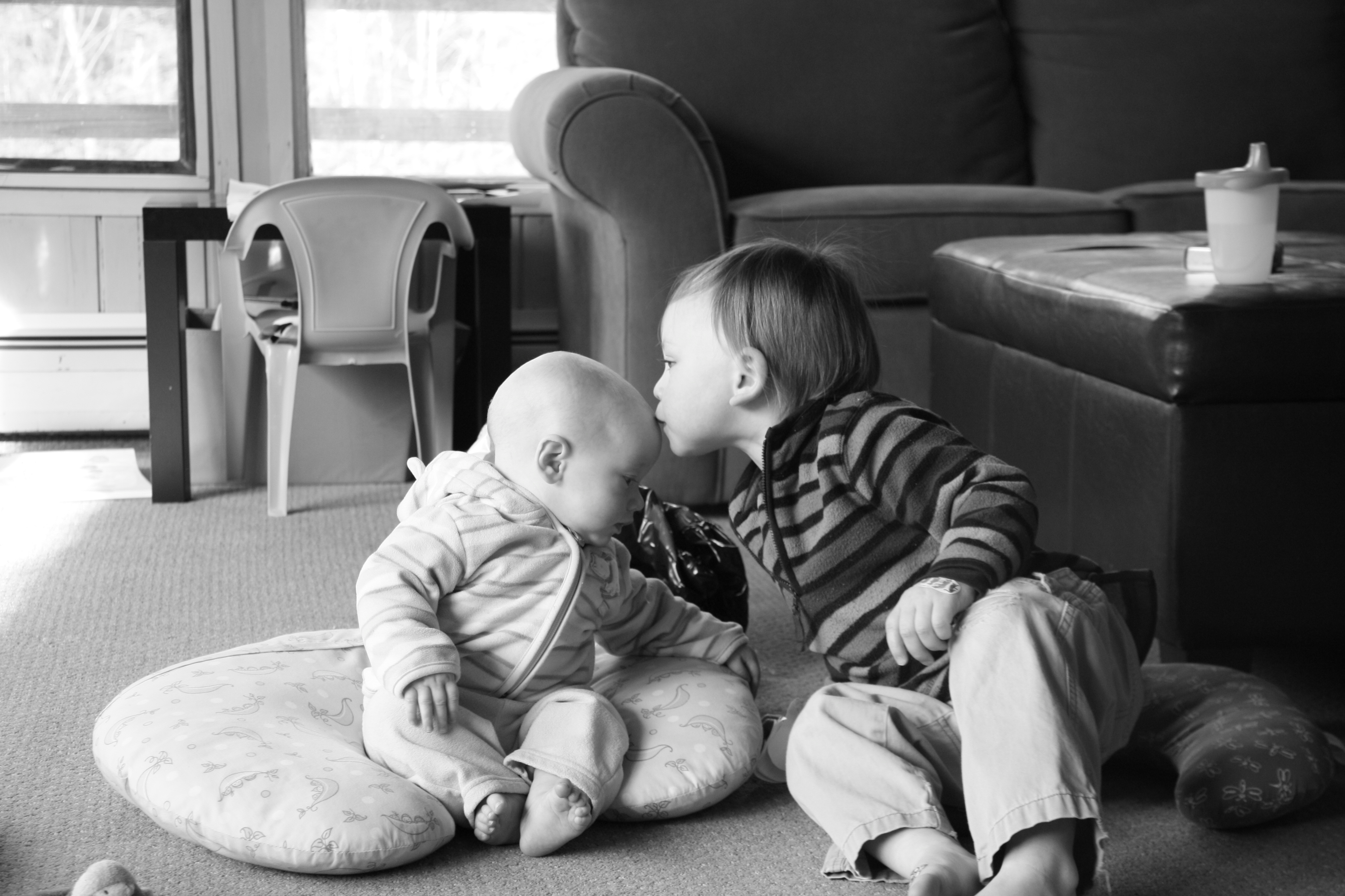 Tandem nursing brothers