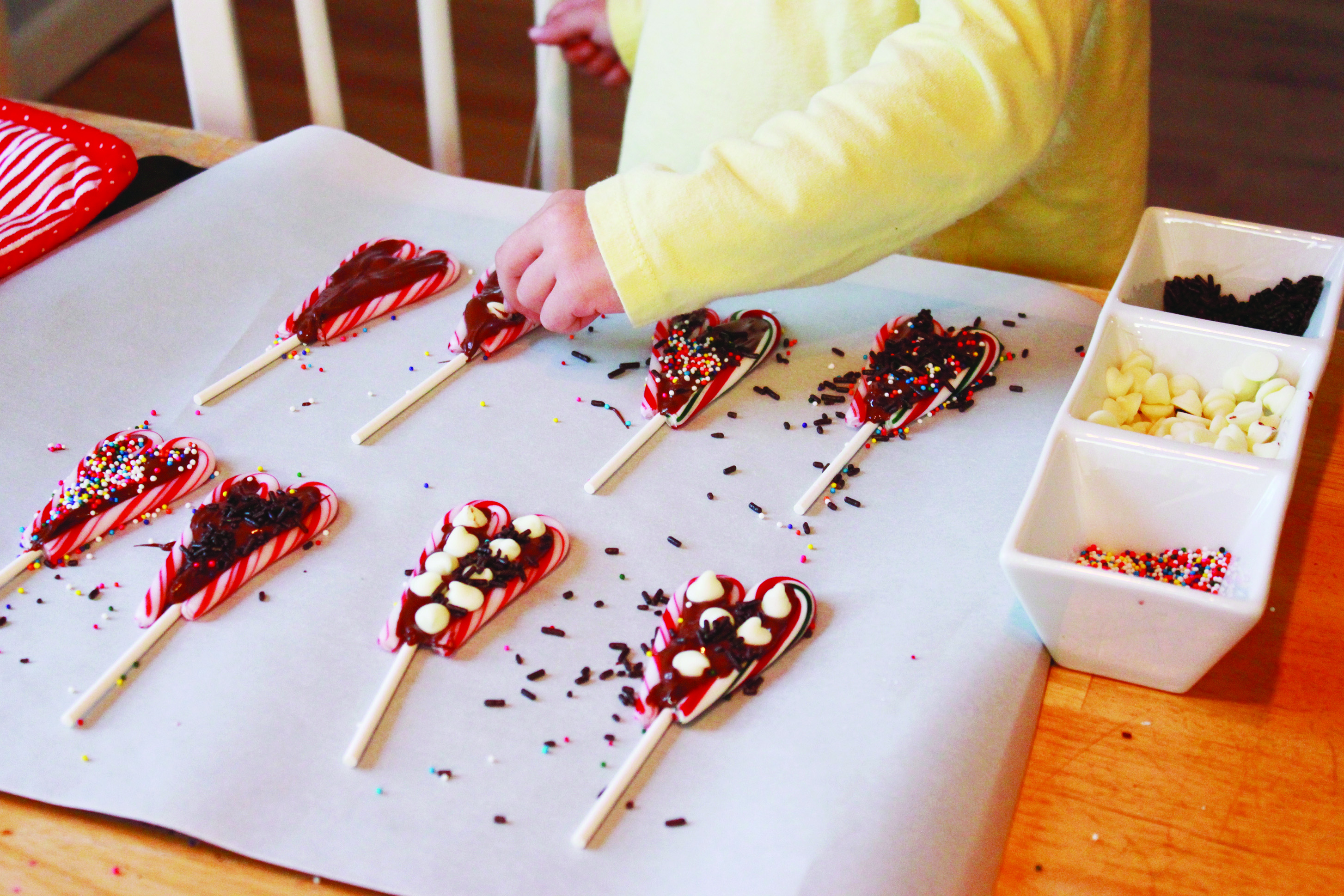 These easy-to-make Candy Cane Lollipops are a fun way to celebrate the season!