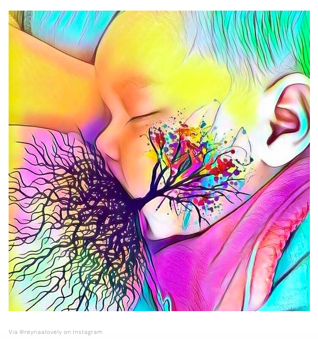 Women are campaigning to normalise breastfeeding by posting these beautiful Tree of Life images on Instagram.