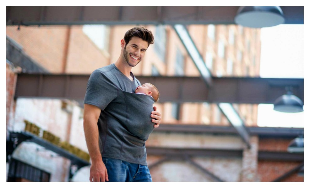 This Awesome Shirt Makes Babywearing Easy for Dad