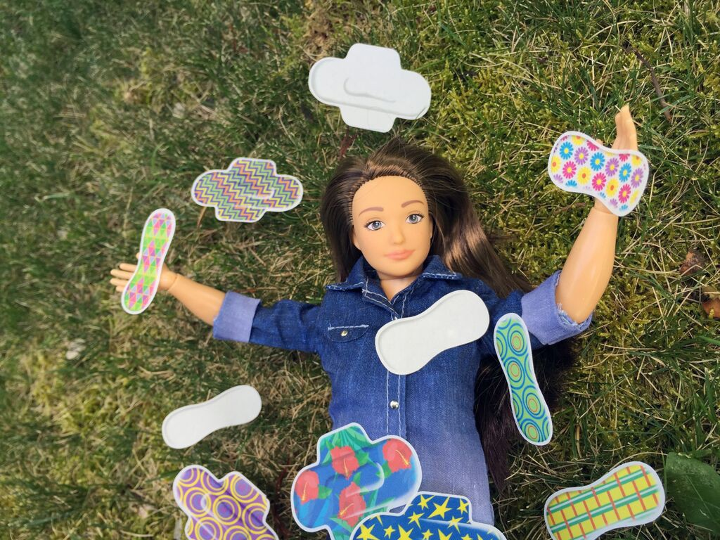 """Normal Barbie"" Accessorizes with Menstrual Pads"
