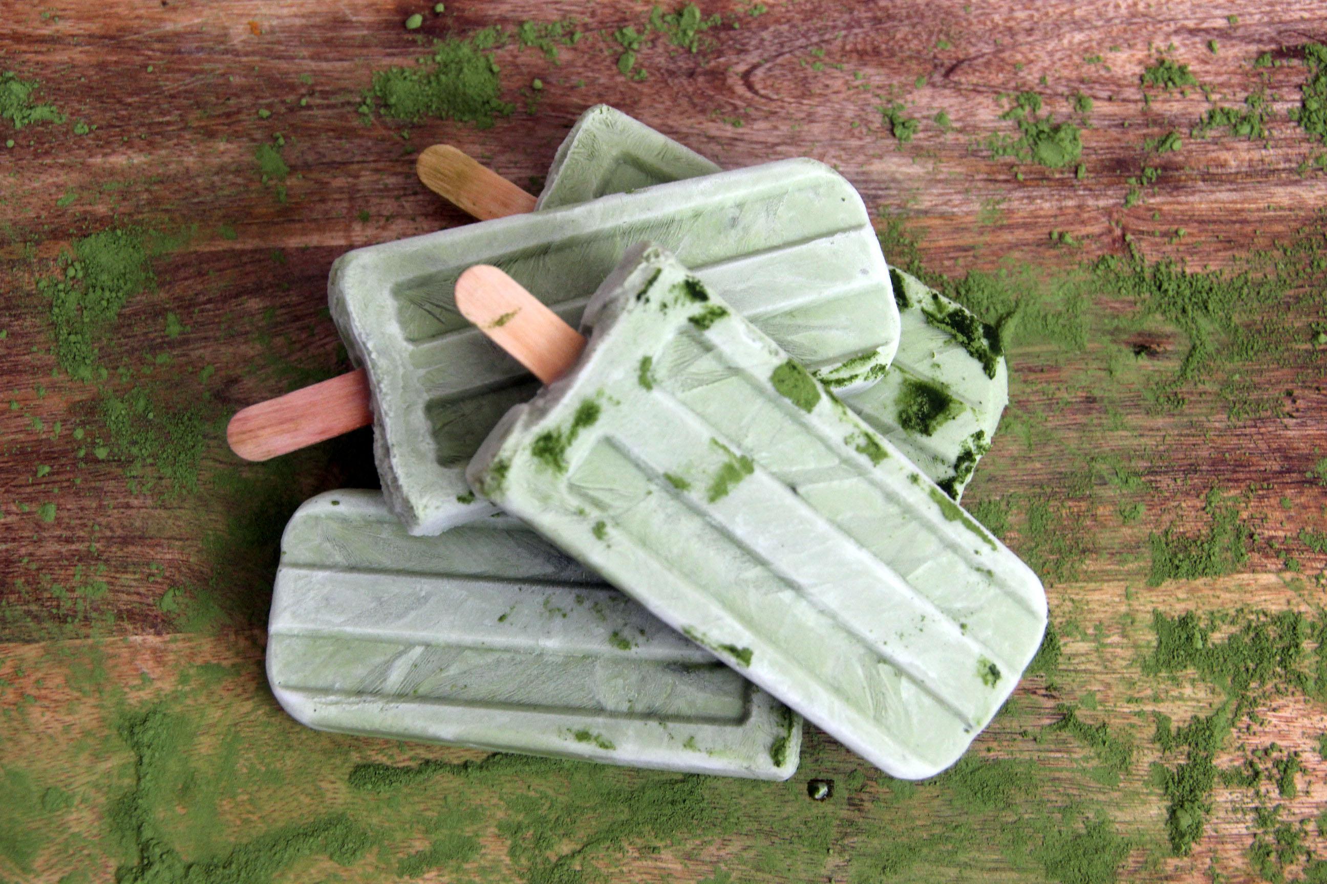 Here's the easy recipe for our matcha-inspired popsicles.