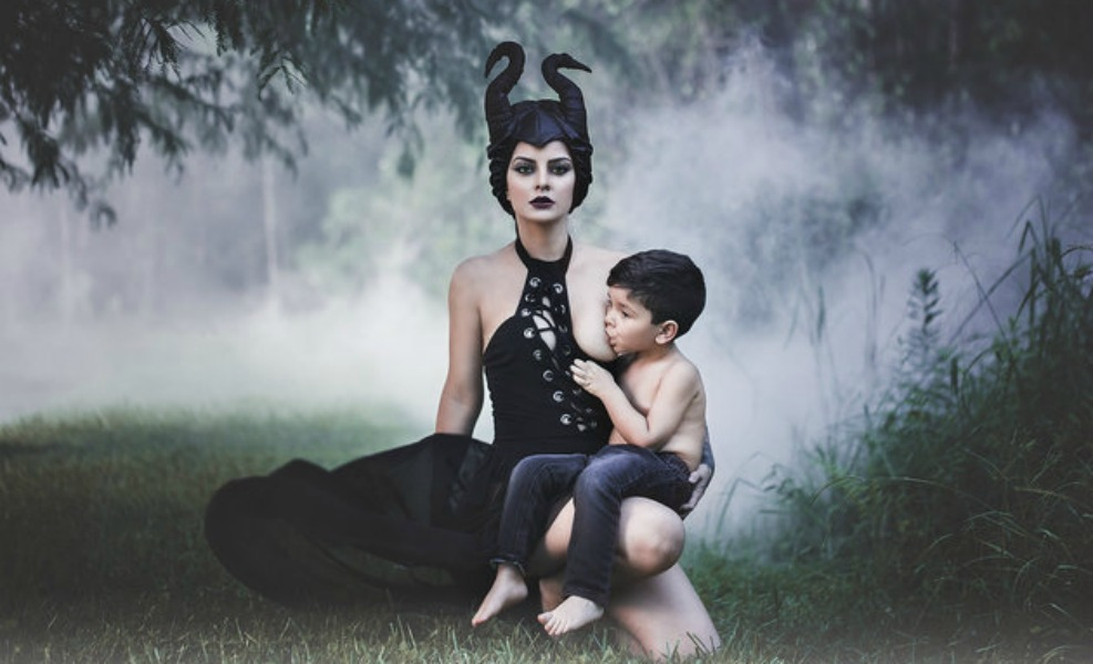 Photo of Mom the Maleficent Nursing Toddler Makes Us Swoon