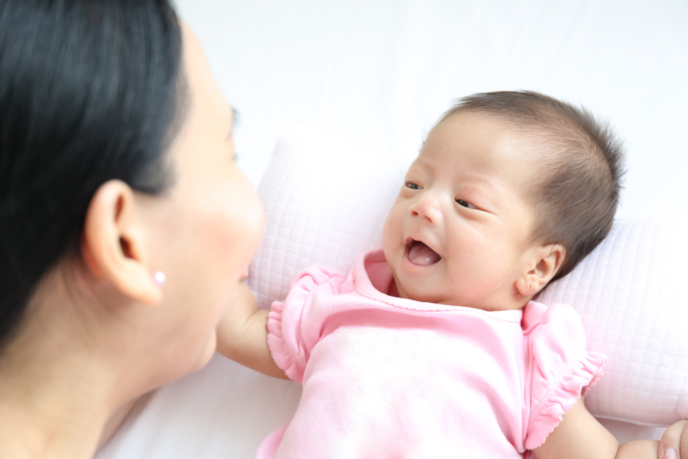 Babies can retain knowledge of the language spoken to them at birth.