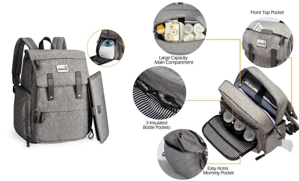 Momcozy backpacks are stylish and functional