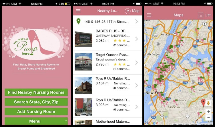 This cool app helps you find the closest nursing room.