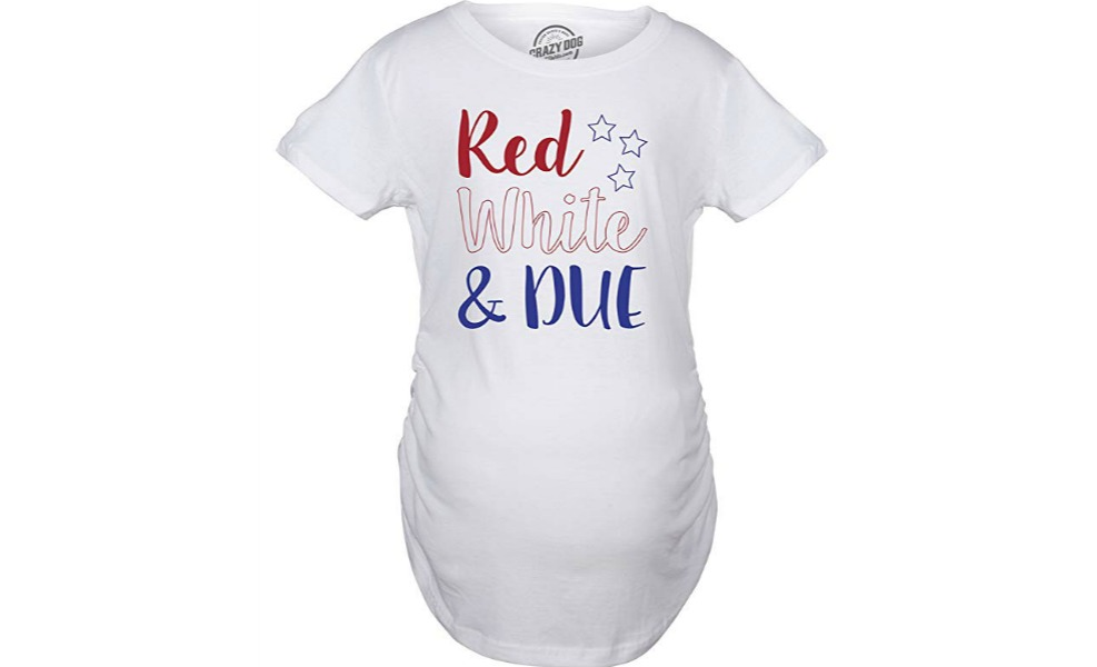 This red, white and DUE shirt is a hit for Independence Day