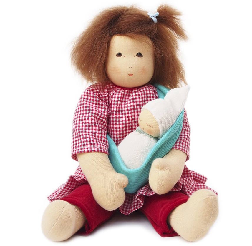 Image of: Mama and Baby Waldorf Doll