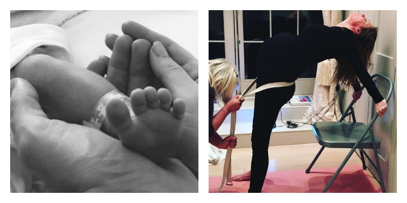Geri Halliwell spoke to The Sunday Times about yoga's role in her pregnancy journey.