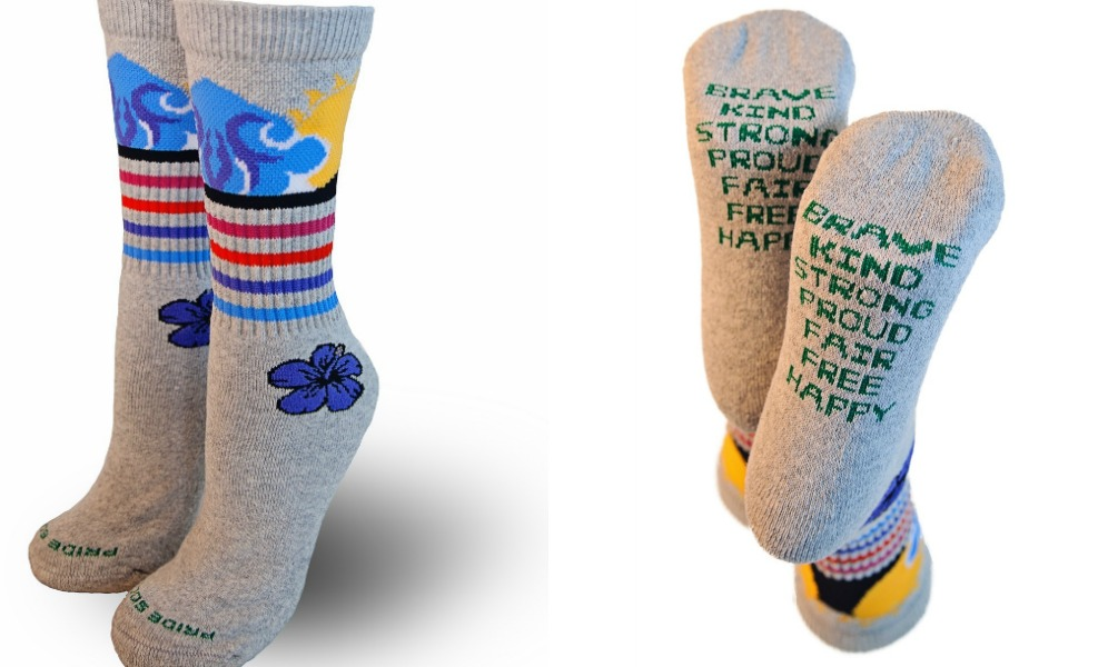 Pride Socks Partnered With Sky Brown For these inspiring socks that give to charity