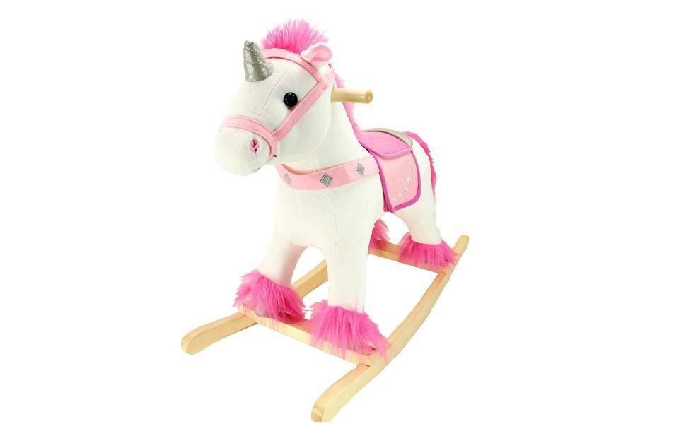 Amazon Prime Day means super deals on this wooden unicorn rocker