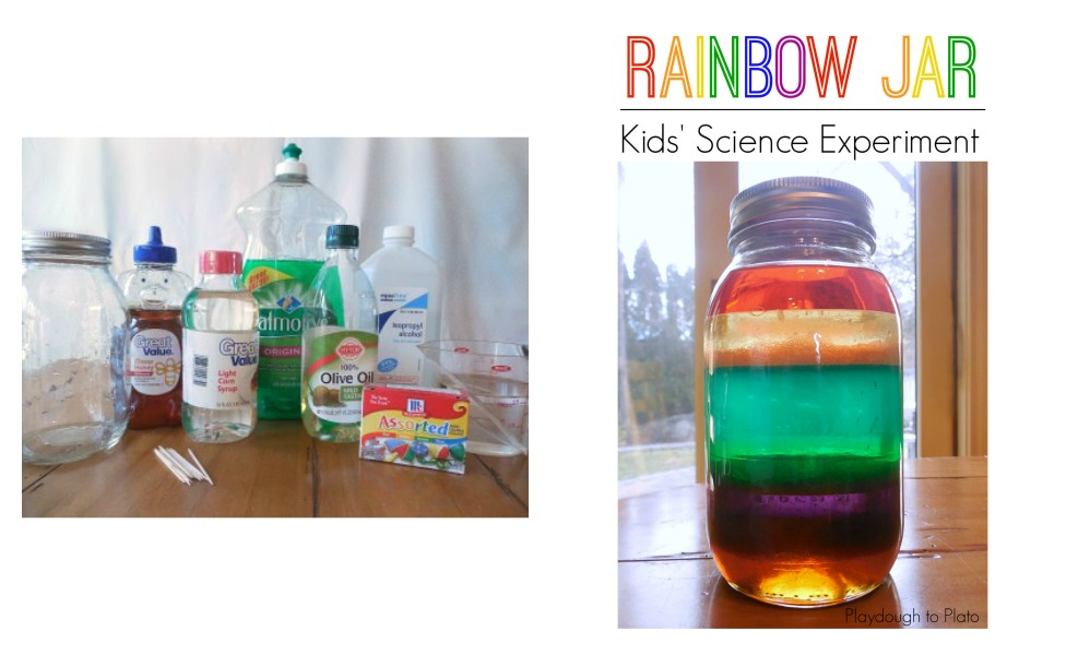 This rainbow jar is a great stem project.
