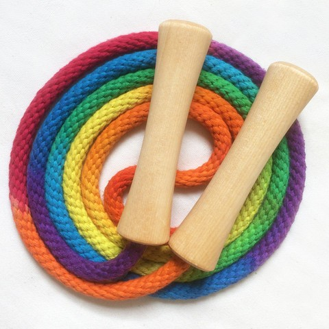 Image of: Rainbow Jump Rope