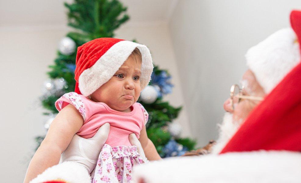 We don't make kids sit on Santa's lap