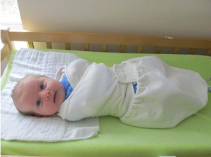Trying Out the New Ergobaby Swaddler